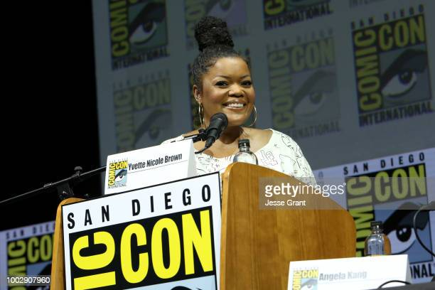 Yvette Nicole Brown attends the 'Fear the Walking Dead' panel with AMC during ComicCon International 2018 at San Diego Convention Center on July 20...