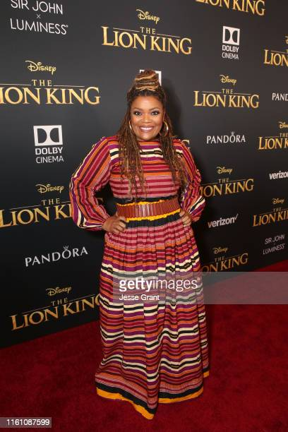 """Yvette Nicole Brown attends the World Premiere of Disney's """"THE LION KING"""" at the Dolby Theatre on July 09, 2019 in Hollywood, California."""