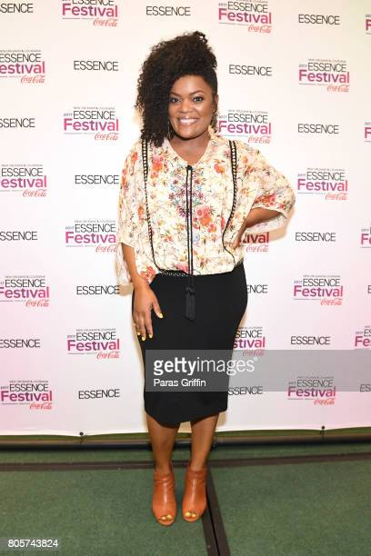Yvette Nicole Brown poses in the press room at the 2017 ESSENCE Festival presented by CocaCola at Ernest N Morial Convention Center on July 2 2017 in...