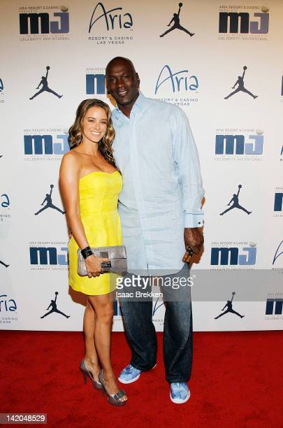 Yvette Prieto and Michael Jordan arrive at the 11th Annual Michael Jordan Celebrity Invitational welcome reception at the Liquid Pool Lounge at the...