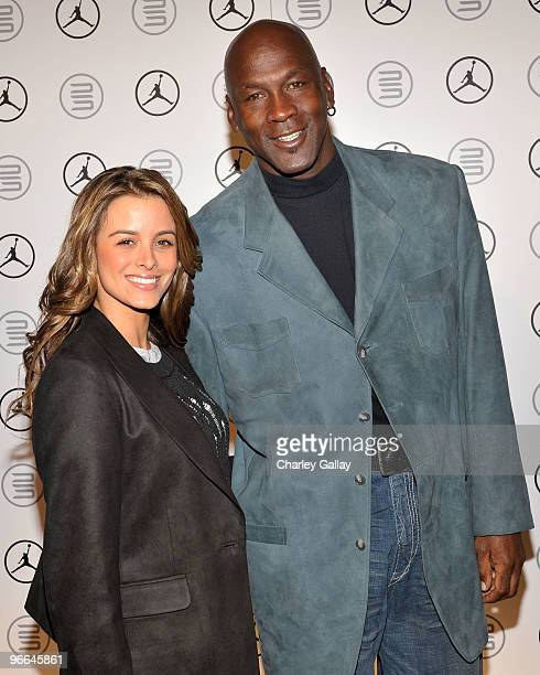 Yvette Prieto and Michael Jordan attend the Exclusive FABULOUS 23 Dinner hosted by Jordan Brand during AllStar Weekend on February 12 2010 in Dallas...