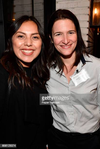 Yvette Sanchez and Jennifer Patredis attend BBBSLA And The Hollywood Reporter's Women In Entertainment Mentor Reunion Cocktail Reception at Private...