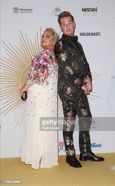 Yvie Jones and Richard Reid arrive at the 61st Annual TV WEEK Logie Awards at The Star Gold Coast on June 30 2019 on the Gold Coast Australia