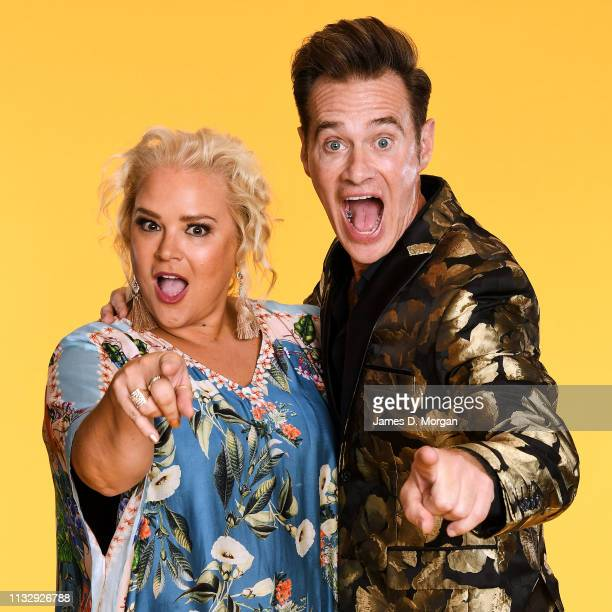 Yvie Jones and Richard Reid pose for a portrait at the 2019 Australian LGBTI Awards at The Star on March 01 2019 in Sydney Australia