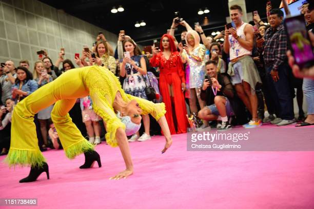 Yvie Oddly attends RuPaul's DragCon LA 2019 at Los Angeles Convention Center on May 25 2019 in Los Angeles California