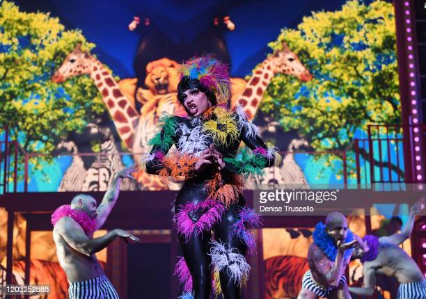 Yvie Oddly performs in the world premiere of RuPaul's Drag Race Live at Flamingo Las Vegas on January 30 2020 in Las Vegas Nevada
