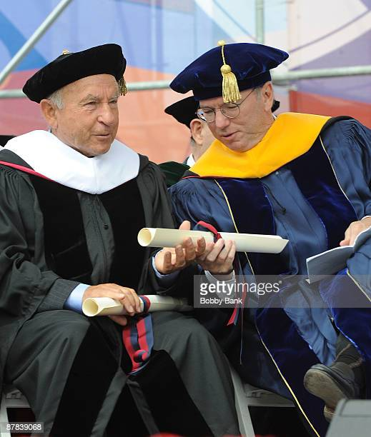 Yvon Chouinard Founder of Patagonia and Eric Schmidt Chairman and CEO of Google during the 2009 Commencement ceremony at University of Pennsylvania...
