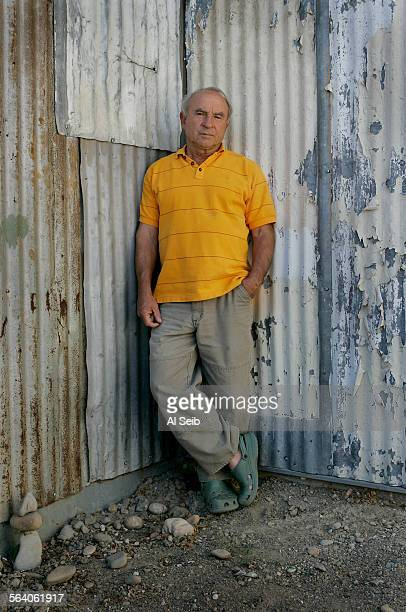 VENTURA CA Yvon Chouinard Patagonia founder/owner photographed in front of the tin shed the original Chouinard Equipment blacksmith shop located in...