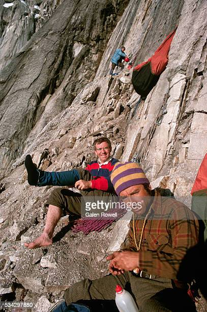 Yvon Chouinard Resting on the Mooses Tooth