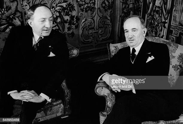 Yvon Delbos*07051885Politician FranceMinister of Foreign Affairswith Edvard Benes in Prague Czechoslovakia Photographer Balkan Universal Press...