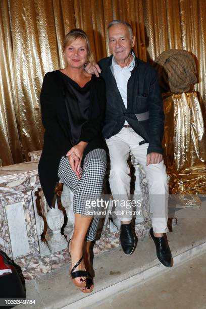 Yvon Lambert and his daughter Eve Lambert attend the Kering Heritage Days Opening Night at 40 Rue de Sevres on September 14 2018 in Paris France