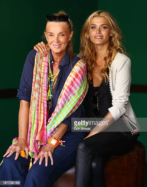 Yvonne and Cheyenne Tozzi pose during the COSMO 40 Years Celebration Lunch at Otto Ristorante on April 23 2013 in Sydney Australia