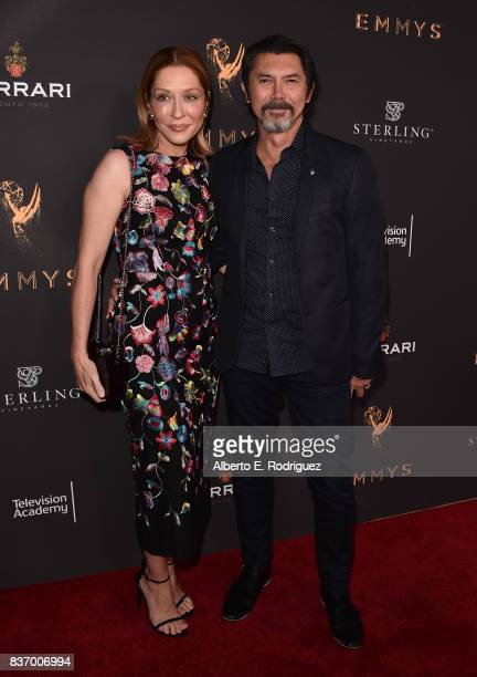 Yvonne Boismier Phillips and actor Lou Diamond Phillips attends the Television Academy's Performers Peer Group Celebration at The Montage Beverly...