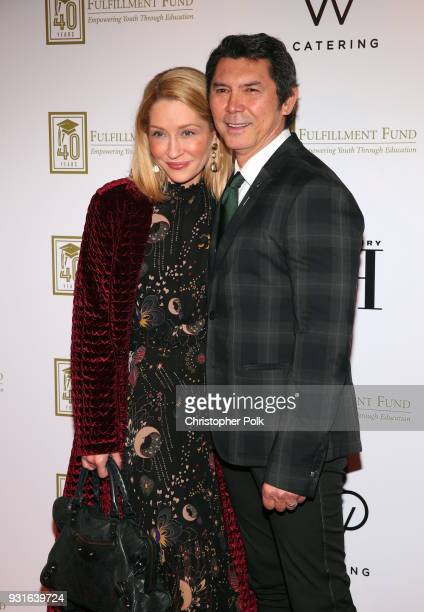 Yvonne Boismier Phillips and Lou Diamond Phillips attend A Legacy Of Changing Lives presented by the Fulfillment Fund at The Ray Dolby Ballroom at...