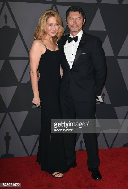 Yvonne Boismier Phillips and Lou Diamond Phillips attend the Academy of Motion Picture Arts and Sciences' 9th Annual Governors Awards at The Ray...