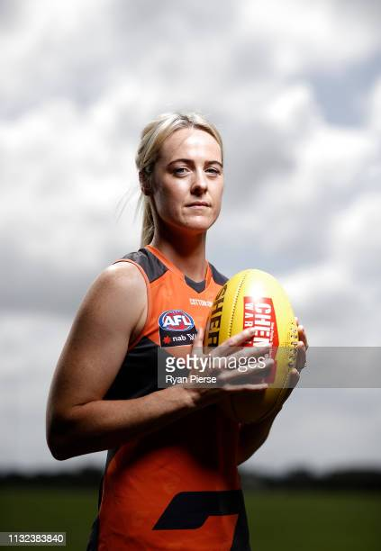 Yvonne Bonner of the AFLW GWS Giants during a Greater Western Sydney Giants media session at the Westconnex Centre on February 27 2019 in Sydney...