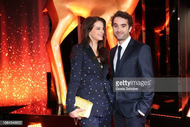 Yvonne Catterfeld and her boyfriend Oliver Wnuk during the Bambi Awards 2018 Arrivals at Stage Theater on November 16 2018 in Berlin Germany