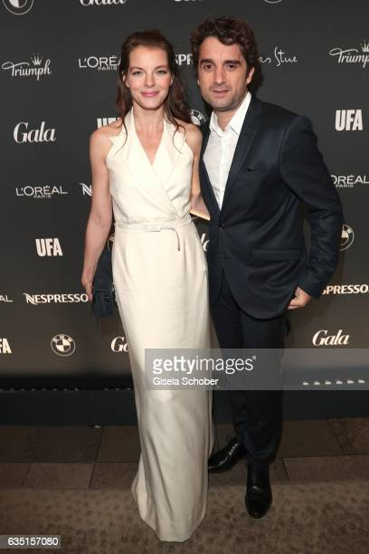 Yvonne Catterfeld and her boyfriend Oliver Wnuk during the Berlin Opening Night by GALA and UFA Fiction at hotel 'The Stue' on February 9, 2017 in...
