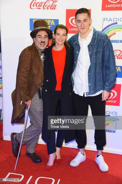 Yvonne Catterfeld and Manith Bertz attend the Radio Regenbogen Award 2018 on March 23 2018 in Rust Germany