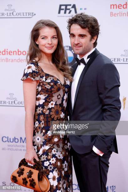 Yvonne Catterfeld and Oliver Wnuk attend the Lola German Film Award red carpet at Messe Berlin on April 28 2017 in Berlin Germany