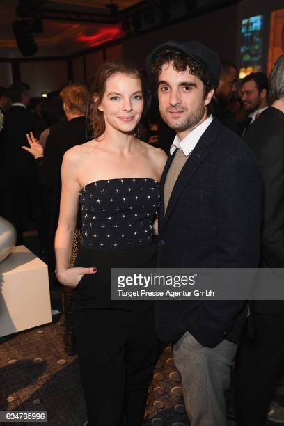 Yvonne Catterfeld and Oliver Wnuk attend the Medienboard Berlin-Brandenburg Reception during the 67th Berlinale International Film Festival Berlin at...