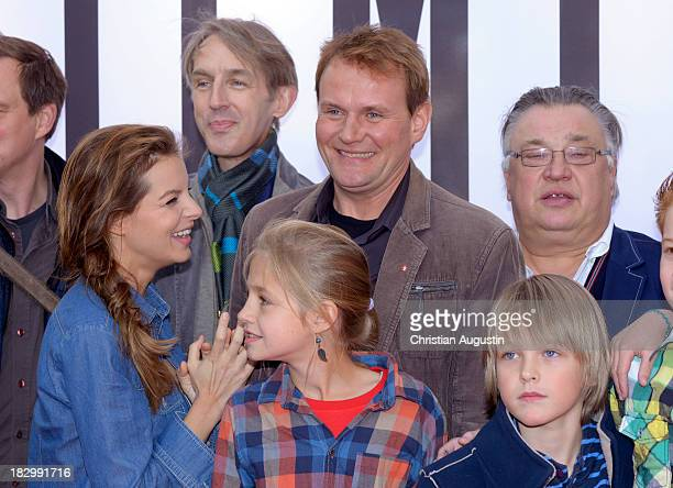 Yvonne Catterfeld Andreas Schmidt Flora Li Thiemann Finn Fiebig and Bernd Stegemann attend the German premiere of the film 'Sputnik' at Cinemaxx on...
