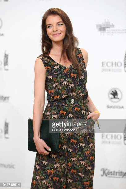Yvonne Catterfeld arrives for the Echo Award at Messe Berlin on April 12 2018 in Berlin Germany
