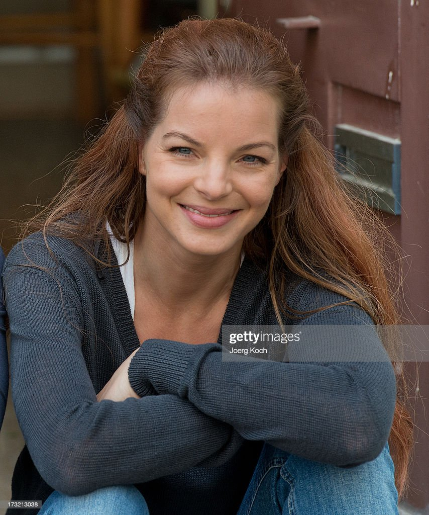 Yvonne Catterfeld attends the 'Cecelia Ahern' photocall at Glockenbach book store on July 10, 2013 in Munich, Germany.