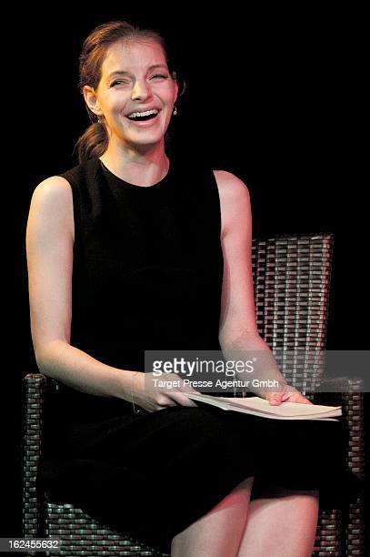 Yvonne Catterfeld attends the presentation of Oliver Wnuks book 'Luftholen' at Backfabrik on February 23 2013 in Berlin Germany