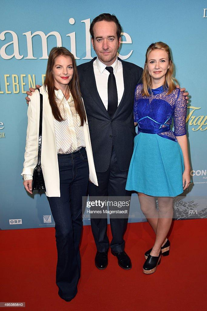 Yvonne Catterfeld, Matthew Macfadyen and Eliza Bennett attend 'Die Trapp Familie - Ein Leben fuer die Musik' German Premiere at Gloria Palast on November 2, 2015 in Munich, Germany.