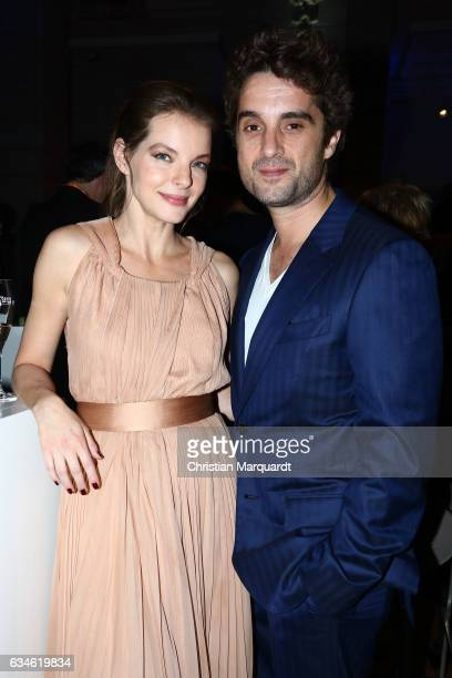 Yvonne Catterfield and Oliver Wnuk attend the Blue Hour Reception hosted by ARD during the 67th Berlinale International Film Festival Berlin on...