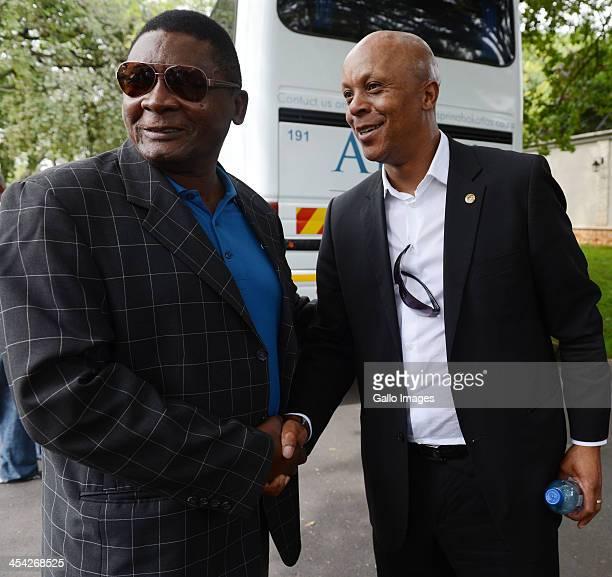 Yvonne Chaka Chaka's husband Dr Tiny Mhinga and Bafana Bafana legend Doctor Khumalo amongest The thousands of tributes to Former President Nelson on...