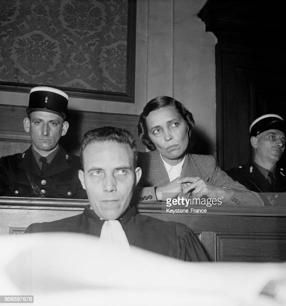 Yvonne Chevallier lors de son procès aux assises de la Marne à Reims en novembre 1952