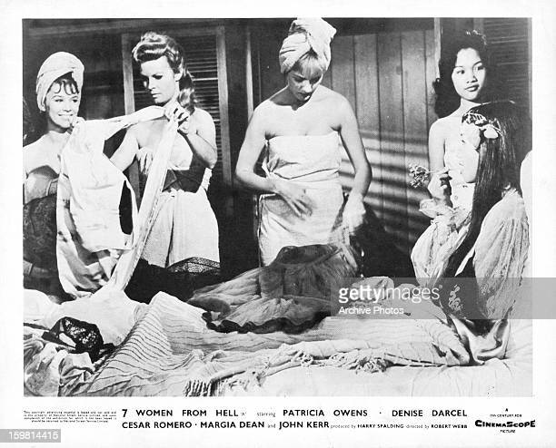 Yvonne Craig with four other women in a scene from the film 'Seven Women From Hell' 1961