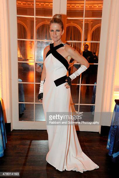 Yvonne Force Villarea attends Art Production Fund's White Glove Gone Wild Gala Honoring Carolina Herrera Linda Yablonsky on March 12 2014 in New York...