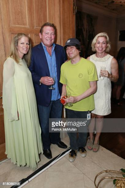 Yvonne Force Villareal John Unwin Yoshitomo Nara and Marianne Boesky attend Jane Holzer Art Production Fund The Cosmopolitan of Las Vegas Host event...