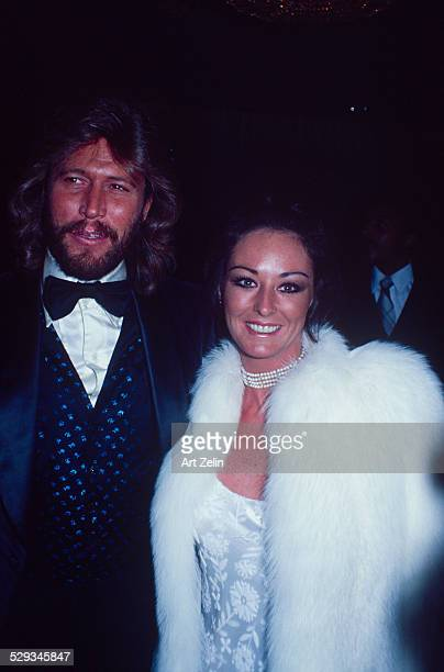 Yvonne Gibb with her husband Maurice Gibb at a formal event circa 1970 New York