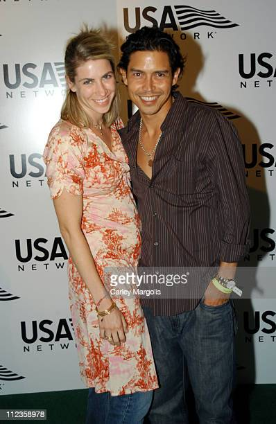 Yvonne Jung and Anthony Ruivivar during USA Network Celebrates the Opening of the 2004 US Open at ACES Restaurant at Arthur Ashe Stadium in New York...