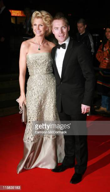 Yvonne Keating and Ronan Keating during 2006 Emeralds and Ivy Ball in Celebration of Cancer Research at The Roundhouse in London Great Britain