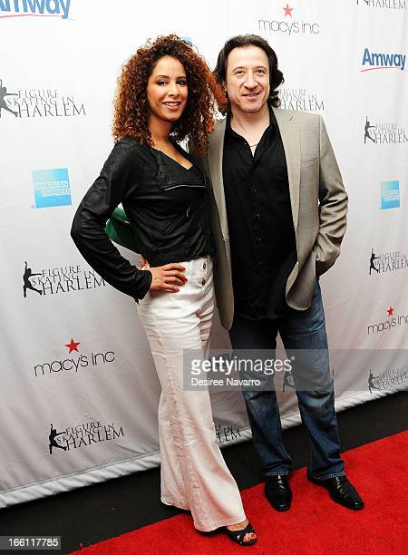 Yvonne Maria Schaefer and actor Federico Castelluccio attend the 2013 Skating With The Stars Benefit Gala at Trump Rink at Central Park on April 8...