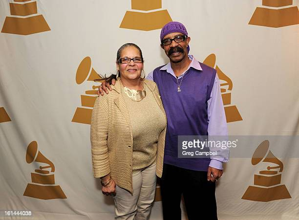 Yvonne Mitchell and Dennis Graham attend the 55th Annual GRAMMY Awards Telecast Party at Hard Rock Cafe on February 10 2013 in Chicago Illinois