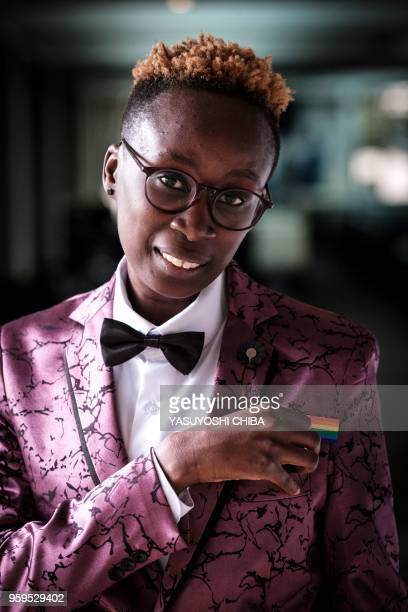 Yvonne Oduor, Gay and Lesbian Coalition of Kenya operations officer, poses after the UN GLOBE event celebrating first time on the International Day...