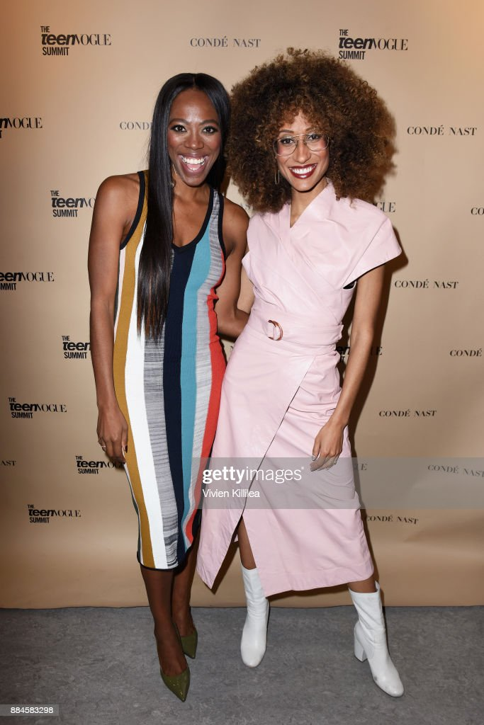 Yvonne Orji (L) and Elaine Welteroth attend The Teen Vogue Summit