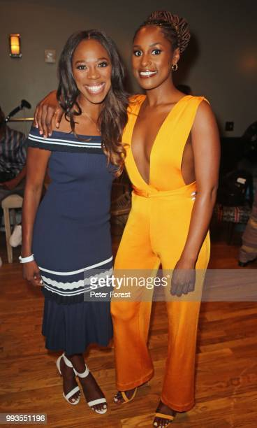 Yvonne Orji and Issa Rae both pose for a photo during HBO's Insecure Live Wine Down at Essence at the Ace Hotel on July 7 2018 in New Orleans...
