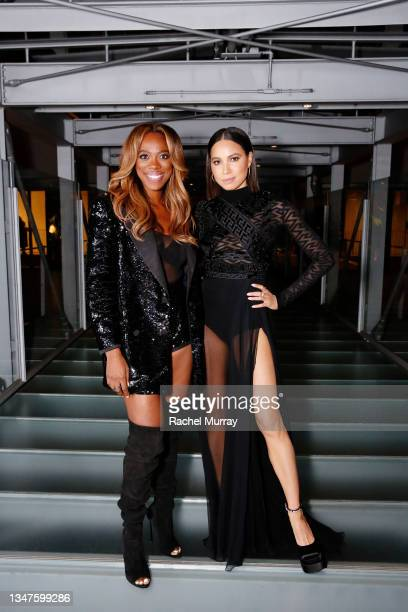 Yvonne Orji and Jurnee Smollett attend ELLE's 27th Annual Women In Hollywood Celebration, presented by Ralph Lauren and Lexus, at Academy Museum of...