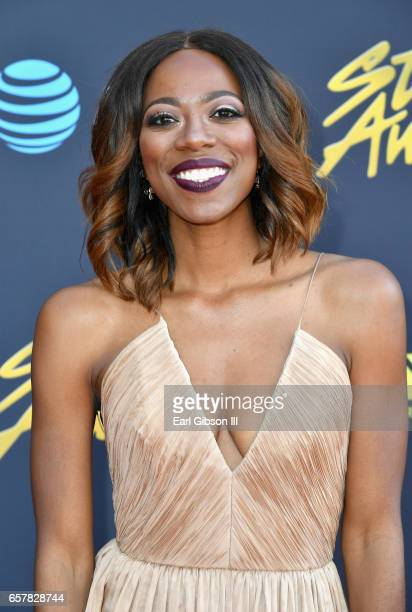 Yvonne Orji arrives at the 32nd annual Stellar Gospel Music Awards at the Orleans Arena on March 25 2017 in Las Vegas Nevada