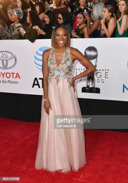 Yvonne Orji at the 49th NAACP Image Awards on January 15 2018 in Pasadena California
