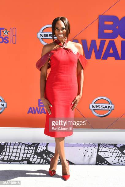 Yvonne Orji attends the 2018 BET Awards at Microsoft Theater on June 24 2018 in Los Angeles California