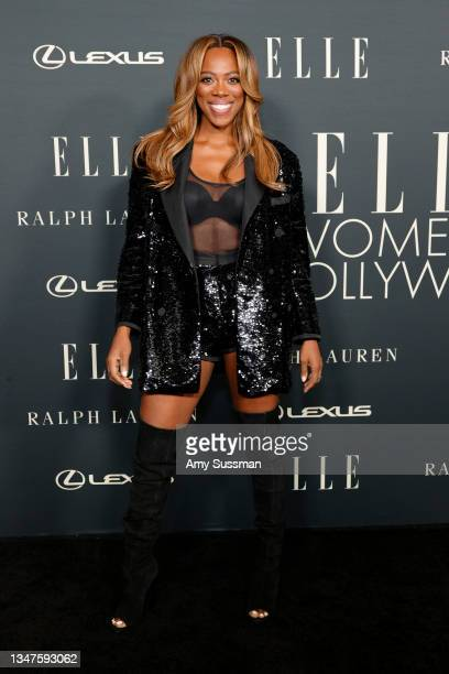 Yvonne Orji attends the 27th Annual ELLE Women in Hollywood Celebration at Dolby Terrace at the Academy Museum of Motion Pictures on October 19, 2021...
