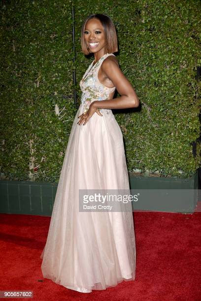 Yvonne Orji attends the 49th NAACP Image Awards Arrivals at Pasadena Civic Auditorium on January 15 2018 in Pasadena California